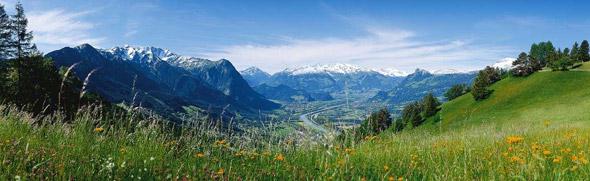 Panorama auf das Rheintal © Fürstentum Liechtenstein