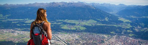 Blick auf Innsbruck © Hotel Seppl