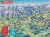 Panoramakarte vom Zillertal